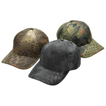 หมวกลายพรางทหารชายประมงล่าสัตว์กองทัพทหารปรับได้หมวกเบสบอลสีดำ