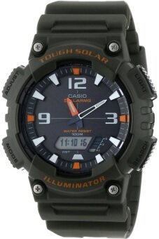 Casio Standard นาฬิกาข้อมือผู้ชาย สีเขียวทหาร สายเรซิ่น รุ่น AQ-S810W-3AVDF