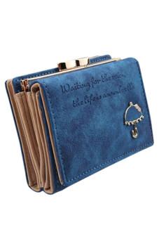 Sanwood กระเป๋าสตางค์หนังเทียมคลัตช์ (น้ำเงิน)