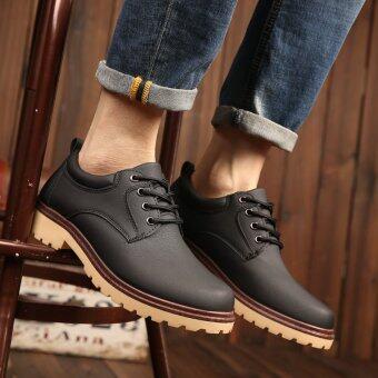 ธุรกิจสบาย ๆ รองเท้าผู้ชาย LBW รองเท้าถัก (สีดำ)