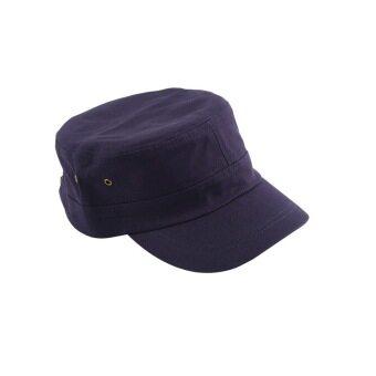 แฟชั่นหน้าร้อนหมวกวินเทจคลาสสิคแบบปรับได้นักเรียนทหารทหารหมวกกรมท่า