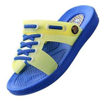 เด็กทารกหายใจร้อนชายหาดรองเท้าแตะ sllipers คิดส์ cuasal รองเท้าแตะ (สีน้ำเงิน)