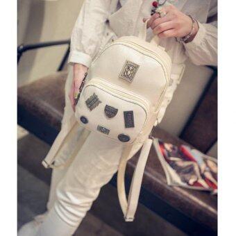 Premium Bag กระเป๋าเป้สะพายหลัง กระเป๋าเป้เกาหลี รุ่น PB022(สีขาว)