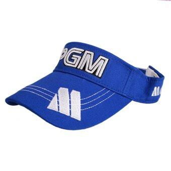 Harga PGM Brand Golf Empty Top Hat Outdoor Sport Empty Top Baseball Cap Blue - intl