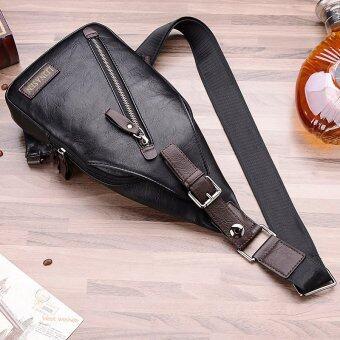 คนประกอบด้วยชายสันทนาการกระเป๋าสะพายกระเป๋าเป้กระเป๋าสะพายห่อหนึ่งห่อกระเป๋าหน้าอกเอว (สีดำ/ไม่มีกระเป๋าสตางค์)