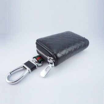 Santa กระเป๋าหนัง กุญแจรีโมท ลายกุชชี่ สีดำ ทรงเหลี่ยม