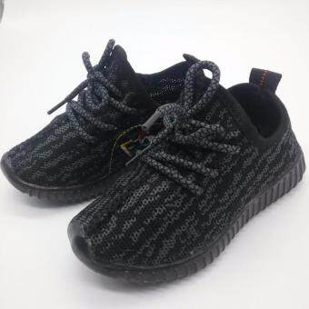 Alice Shoe รองเท้าเด็ก รองเท้าผ้าใบแฟชั่นแบบสวม ลายตาข่าย เด็กผู้หญิง&เด็กผู้ชาย รุ่น CVS037-BK (สีดำ)