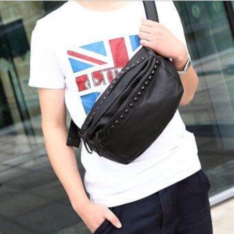 Tokyo Boy กระเป๋าหนัง PU สะพายไหล่ผู้ชาย คาดเอว รุ่น NG337 - สีดำ