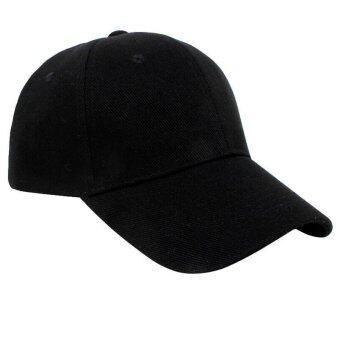 เพศชายร้อนฮิพฮอพหนุ่มว่าง ๆ ปรับได้ใส่หมวกหมวกเบสบอล Snapback สีดำ