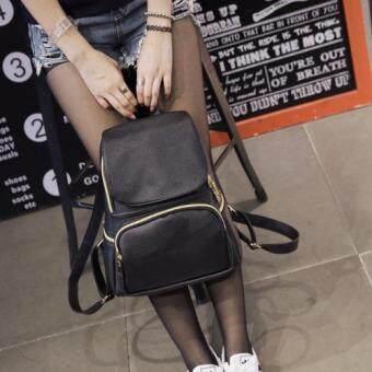 B'nana Beauty กระเป๋าเป้สะพายหลัง กระเป๋าเป้เกาหลี กระเป๋าสะพายหลังผู้หญิง backpack women รุ่น GB-12 (สีดำ)
