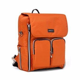 Ponopino Lut'z diaper back กระเป๋าเป้สะพายหลังสำหรับใส่ของใช้เด็กอ่อน (สีส้ม)