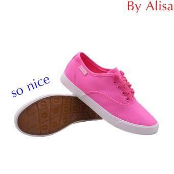 Alisa Shoes รองเท้าผ้าใบผู้หญิง รุ่น 2655 Pink