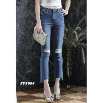 platinum fashion กางเกงยีนส์ขายาว สินค้านำเข้า เนื้อผ้า สีสวย รุ่นPFF5696