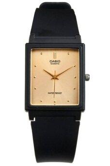 Casio Standard นาฬิกาข้อมือผู้ชาย สีดำ สายเรซิ่น รุ่น MQ-38-9ADF