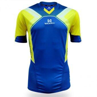 WARRIX SPORT เสื้อฟุตบอลพิมพ์ลาย WA-1521 สีน้ำเงิน-เหลือง