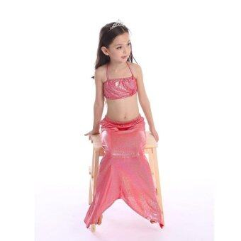 Harga Mermaid Tail Swimsuit Girl Bikini Split Swimsuit Bikini Girls Split Red - intl
