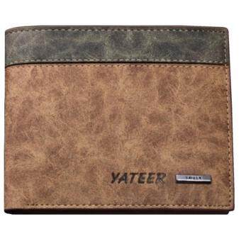 Matteo กระเป๋าสตางค์หนังผู้ชาย 3 ชั้น Yateer รุ่น 2084 - สีน้ำตาล