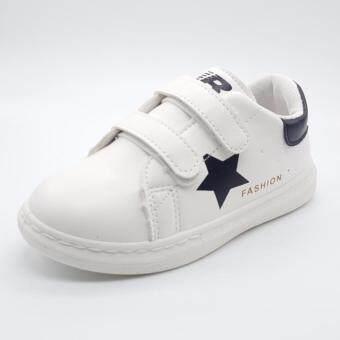 Alice Shoe รองเท้า แฟชั่นเด็กชาย และ เด็กหญิง รุ่น SKL107-W ( สีขาว )