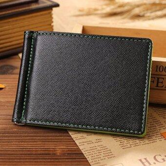 MATTEO กระเป๋าเงิน กระเป๋าสตางค์แบบบาง Money Clip สีเขียว