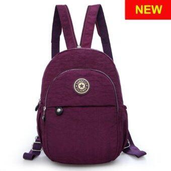 RICHCOCO กระเป๋าเป้สะพายหลัง Nylon leisure Backpack (K01-new Purple)
