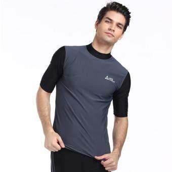 Streamline เสื้อว่ายน้ำผู้ชายแขนสั้น กันแดด สีเทา(Int:S)