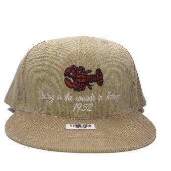 หมวกแก๊ป กุ้ง สีครีม