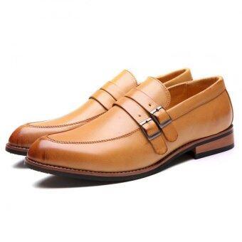 หนังแท้รองเท้าผู้ชายเนี้ยบ Bullock ธุรกิจรองเท้าชายหนุ่มแต่งตัวสุภาพรองเท้าออกซฟอร์ด