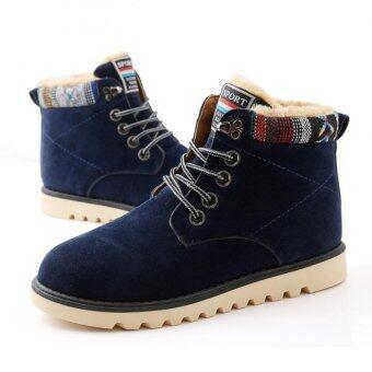 รองเท้าหนังแท้มนุษย์หิมะฤดูร้อนกันน้ำผ้าถักขึ้นกลางแจ้งสำหรับทหาร Martin รองเท้าบู๊ต