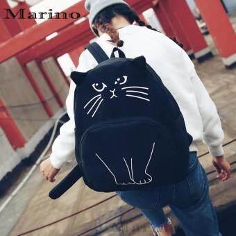 Marino กระเป๋าเป้ กระเป๋าสะพายหลังรูปแมวสีดำ No.0212 - Black (image 1)