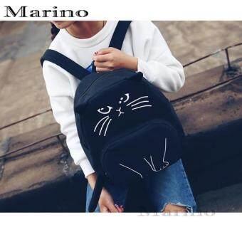 Marino กระเป๋าเป้ กระเป๋าสะพายหลังรูปแมวสีดำ No.0212 - Black (image 4)