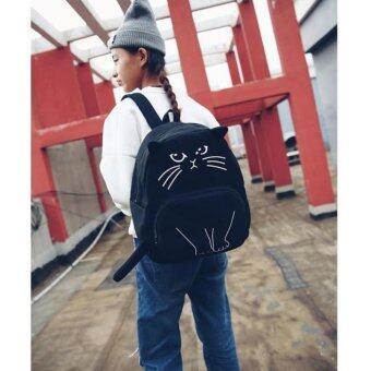 Marino กระเป๋าเป้ กระเป๋าสะพายหลังรูปแมวสีดำ No.0212 - Black (image 2)