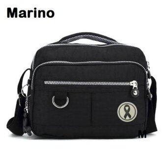 Marino กระเป๋า กระเป๋าสะพาย กระเป๋าสะพายผู้หญิงสีดำ ไว้อาลัย No.1857 - สีดำ