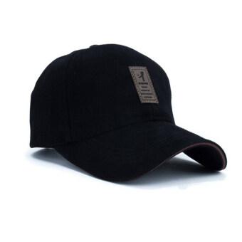 นิวแฟชั่นหมวกเบสบอลกีฬา 2559 เพศ Snapback กอล์ฟหมวกแข็งสำหรับคนกระดูก (สีดำ)