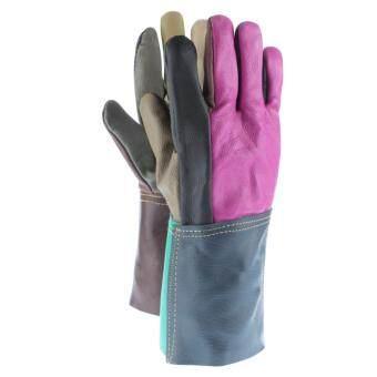 FHW14 ถุงมือหนังวัว เฟอร์นิเจอร์ ฝ่ามือเต็ม สำหรับงานเชื่อม กันความร้อน ยกเหล็ก รุ่นประหยัด