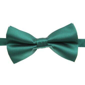 แฟชั่นกระต่ายทักซิโดสีทึบของคนงานผูกคอหูกระต่ายผูกเนกไทปรับได้งานแต่งงานก่อนผูกสีเขียว