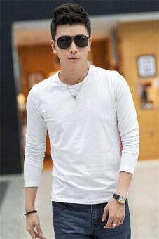 แฟชั่นเกาหลีผ้ายืดแขนยาว Hotyv ฝ้ายสบาย ๆ เสื้อยืด HTS033 ขาว
