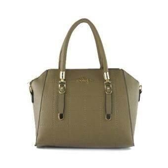 กระเป๋าถือ กระเป๋าสะพาย ผู้หญิง รหัส.8066 (สีกากี)