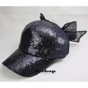 A-shop หมวกแก๊ป หมวกแฟชั่น ผู้หญิง สีดำ Hat070-02