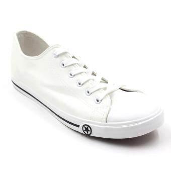 Air Move รองเท้าผ้าใบแฟชั่น ได้ทั้งชายและหญิง สามารถใส่คู่กันได้ (มีไซส์ 36- 44) รุ่น W19 (White)