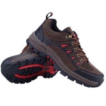 รองเท้าเดินป่าล่าสัตว์กลางแจ้งท่องเที่ยวกีฬารองเท้าผ้าใบรองเท้าผู้ชาย (สีน้ำตาล)