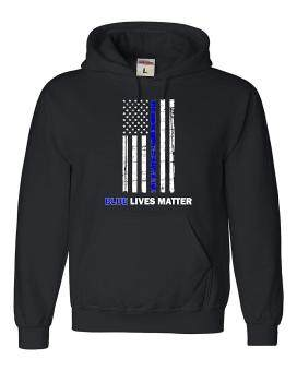 Harga CONLEGO Adult Blue Live Matter Thin Blue Line Support Police Sweatshirt Hoodie Black - intl