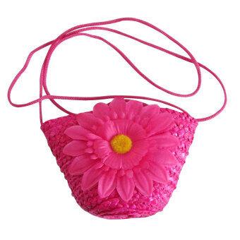 ลาวีฤดูดอกไม้กระเป๋าสตรีกระเป๋าถือหลอดมินิหาด (กุหลาบแดง)