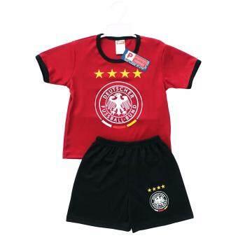 Periquita ไซส์ 1-7 ปี เซ็ต 2 ชิ้น ชุดกีฬาเด็ก ชุดฟุตบอลเด็ก ทีมชาติเยอรมัน สีเลือดหมู