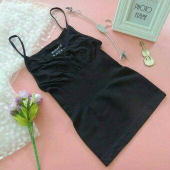 MUNAFIE slimming vest เสื้อกระชับสัดส่วน เก็บส่วนเกิน(สีดำ) - 1 ตัว