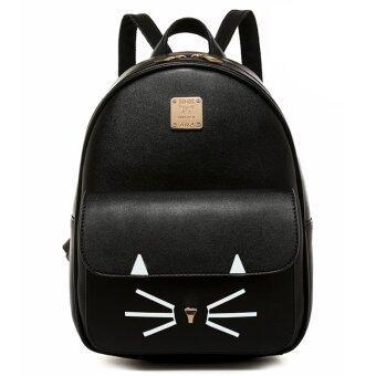 Little Bag กระเป๋าเป้สะพายหลัง กระเป๋าเป้เกาหลี กระเป๋าสะพายหลังผู้หญิง backpack women รุ่น LP-104 (สีดำ)