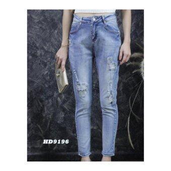 platinum fashion กางเกงยีนส์ขายาว สินค้านำเข้า เนื้อผ้า สีสวย รุ่นPHD9196
