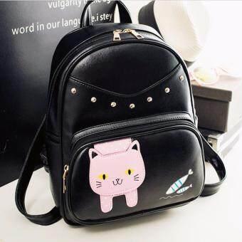 Little Bag กระเป๋าเป้เกาหลี กระเป๋าสะพายหลังผู้หญิง กระเป๋าแฟชั่น backpack women รุ่น LP-149(สีดำ)