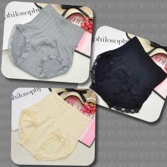 Munafie กางเกงสเตย์ญี่ปุ่นเก็บพุง ลดพุง กระชับสัดส่วน (สีครีม/สีเทา/สีดำ)