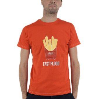 PHIL เสื้อยืดคอกลม ลายเฟรนฟรายซ์ - สีส้ม
