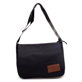 DM กระเป๋าสะพายข้าง Canvas KCAJ ( สีดำ )